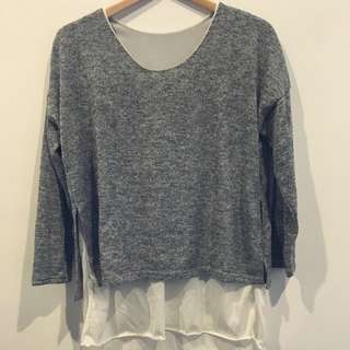 Brand New Size S/M 'Dual' Layered Knit Top For Sale
