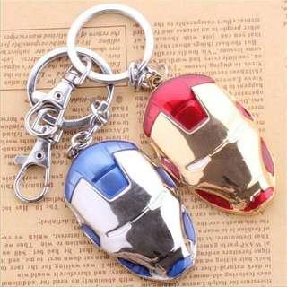 全新-鋼鐵人金屬面具鑰匙圈