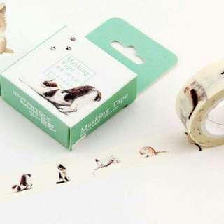 日本貓咪紙膠帶