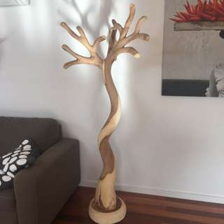 Wooden Tree Hat Stand