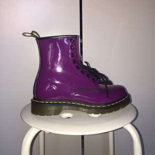 Dr Martens Purple Patent Leather Boots