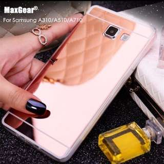 Luxury Mirror Premium Silicon Case - Softcase Samsung A310 / A510 / A710
