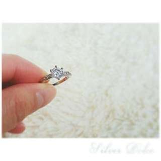 New 925 Silver Ring With Cubic Zirconia