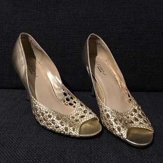 Golden Slippers (high heels)