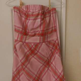 Scottish House 粉格洋裝秋冬款