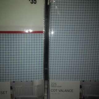 Cot Sheet Sets And Matching Valance X2