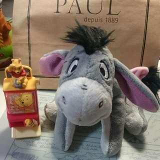 正版 迪士尼 維尼的朋友 依耳  伊耳 驢子 娃娃 玩偶