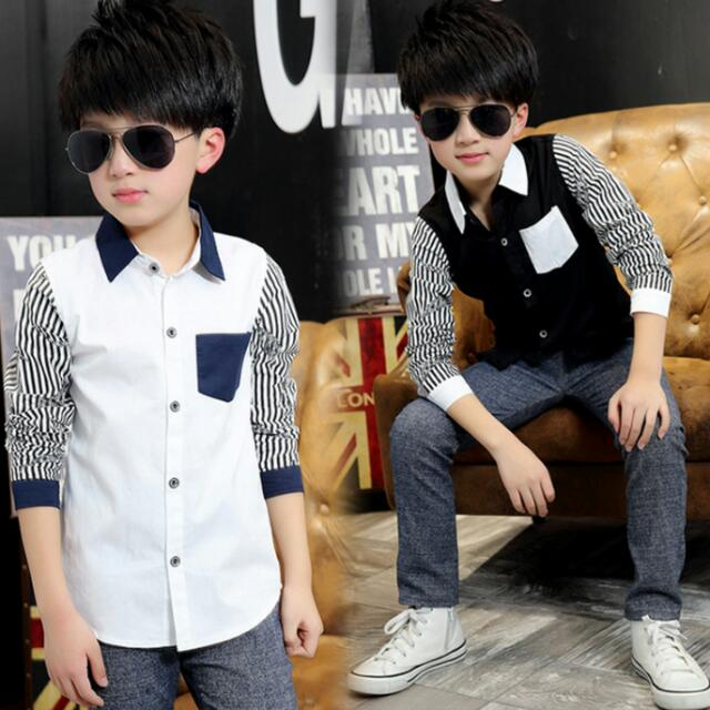 Spring Kids Boys Shirts Long Sleeve Cotton Boy Shirt Casual Plaid Boys  Blouses For 10 years Children Clothing Kids Clothes, Babies & Kids on  Carousell