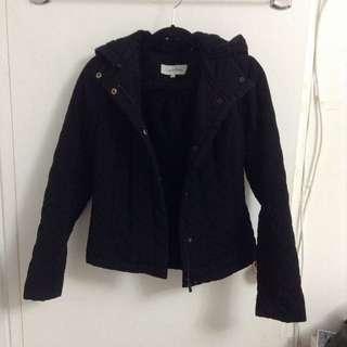 Black Quilted Calvin Klein Jacket