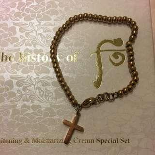 十字架造型手鍊-玫瑰金