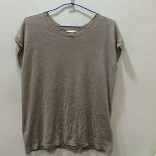 H&M短袖薄針織T恤上衣