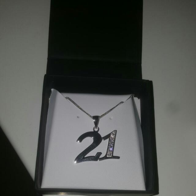 21st Birthday Necklace