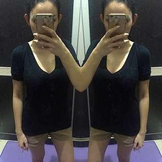Zara Black Top Sz m