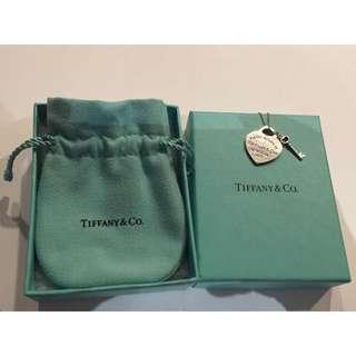 ✨出清降價中✨【Tiffany&Co】經典 愛心牌 鑰匙項鍊 純銀925項鍊~專櫃真品
