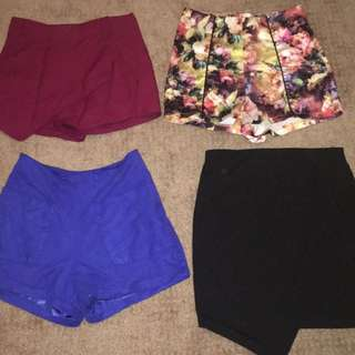Shorts, Skirts and Skirts