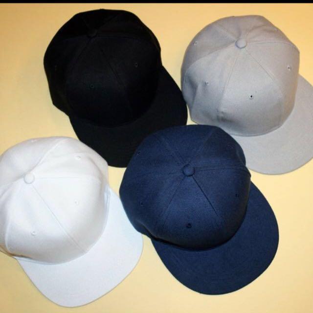 素色棒球帽(黑、白)