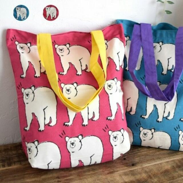 北極熊帆布袋(紅款