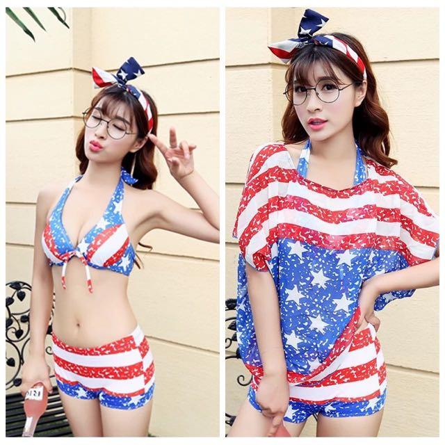 海軍風泳衣