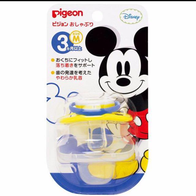全新 日本限定 貝親 迪士尼米奇 安撫奶嘴3個月以上(M號)