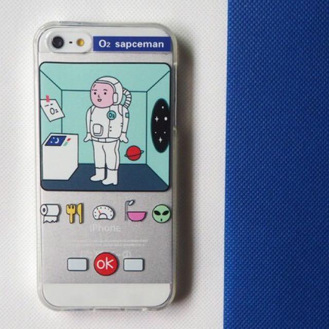 童趣可愛宇宙航空員地球手機殼 透明軟殼 iPhone 5 5s 6 6s plus