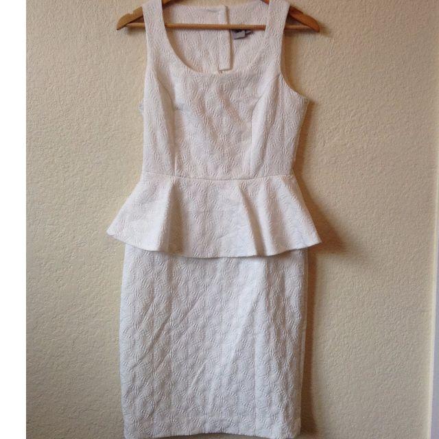 ASOS White peplum dress