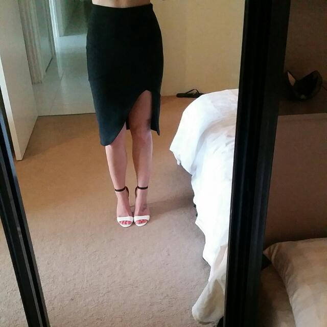 Black Side Slit Skirt Size 8