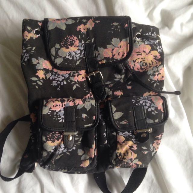 Bluebird Floral Backpack