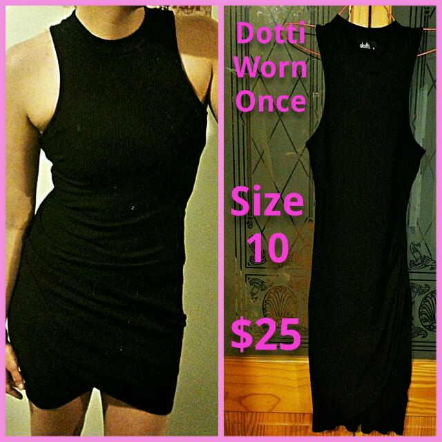 Dotti ribbed dress size 10