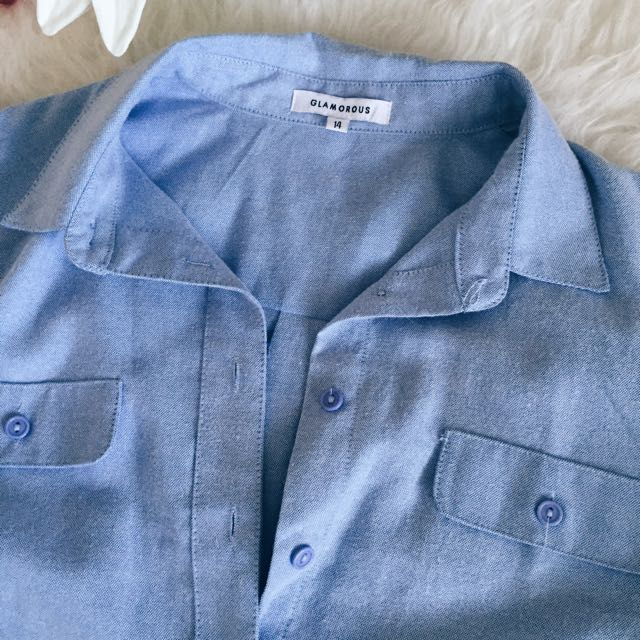 🎯 GLAMOROUS Light Blue Shirt