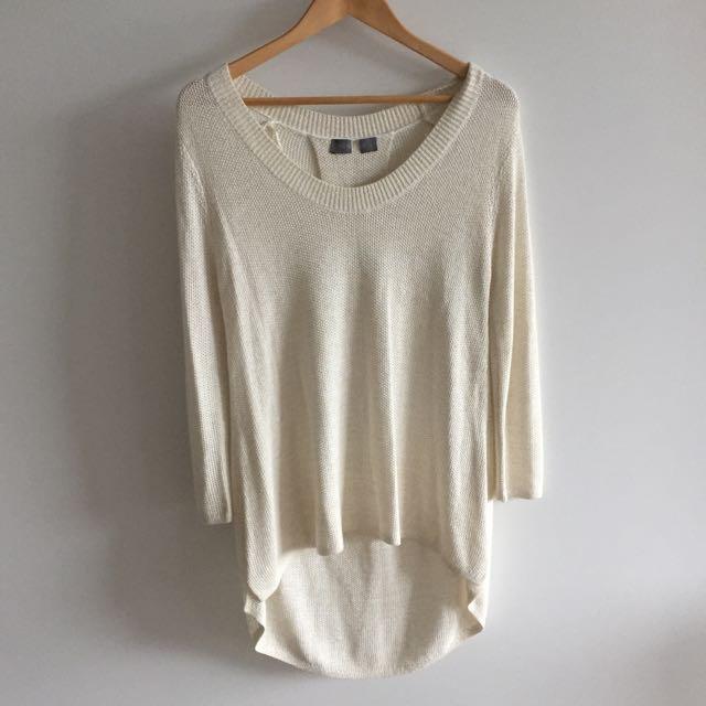Gold Flake Weave Drape Sweater