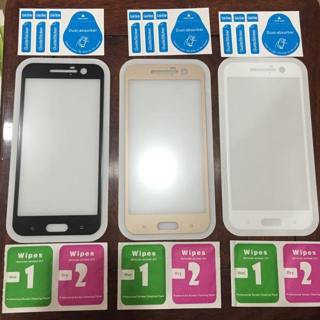 HTC M10 滿版鋼化玻璃保護貼-三色