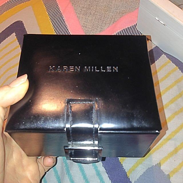 Karen Miller Watch And Bangle Set