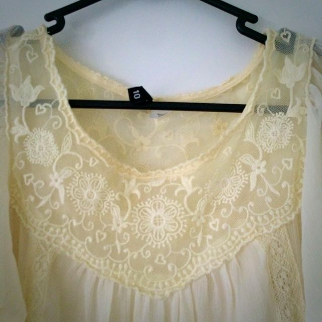 Lace Flowing Top