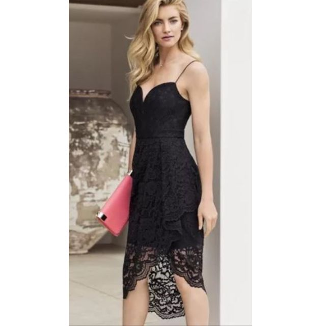 Forever New Laura V-neck Lace Wrap Dress