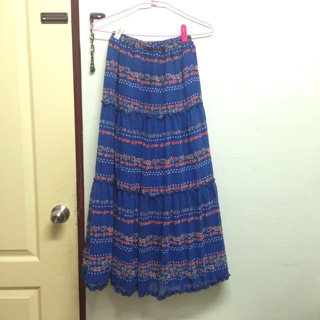 LDS Wego 日本小碎花輕古著輕薄紗裙(含內裡)洋裝