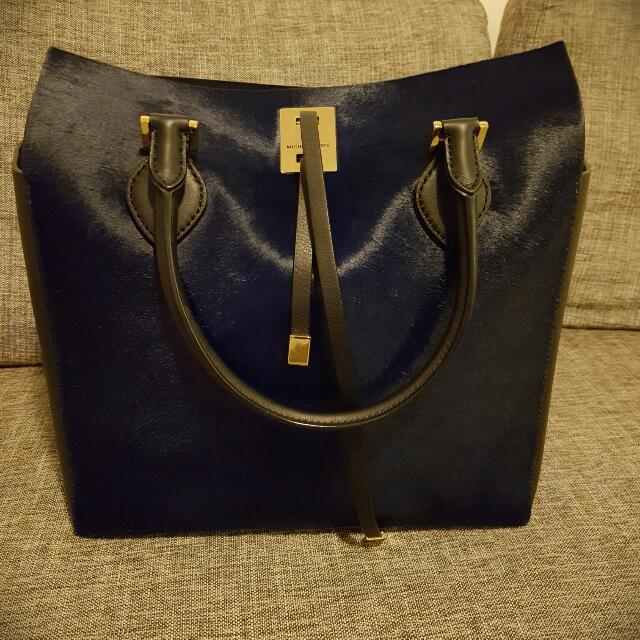 Limited Edition Michael Kors Miranda Tote -  Navy Calf Hair (Almost Brand New)