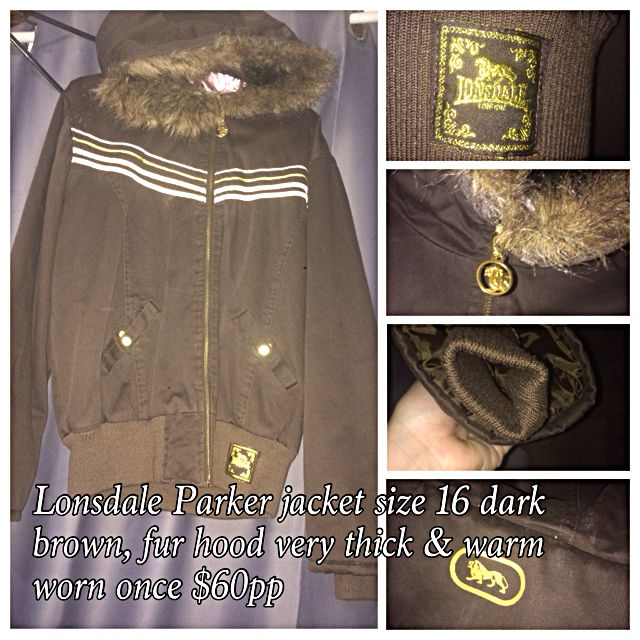 Lonsdale Parker Jacket Plus Size 16