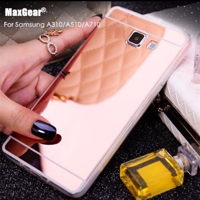Luxury Mirror Premium Silicon Case - Softcase Samsung A310 / A510 / A710