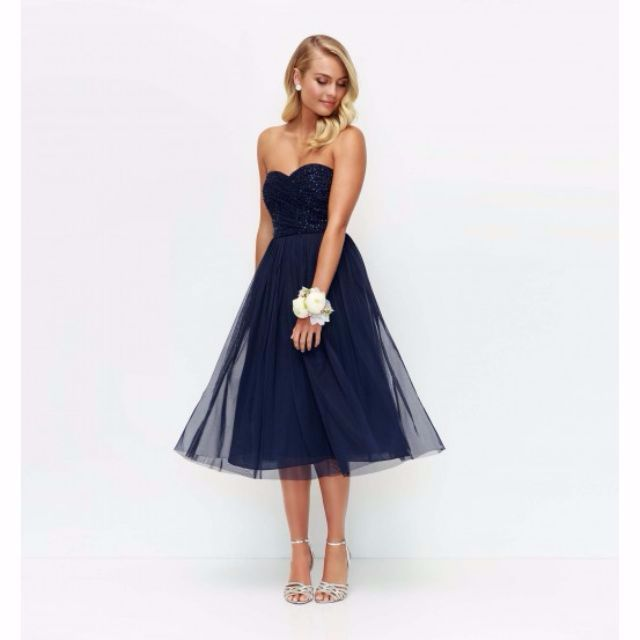 Forever New Mary Embellished Tulle Midi Dress