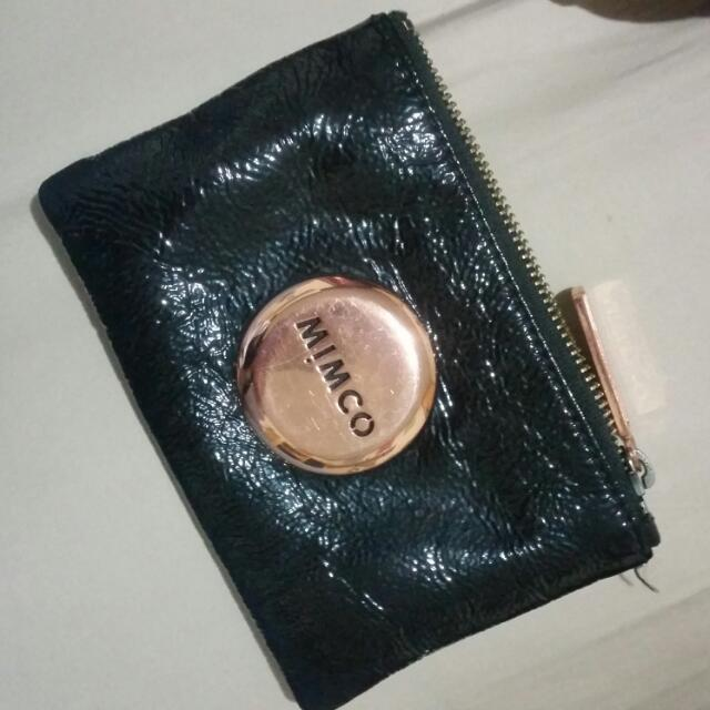 Rose Gold and Black Mimco Pouch