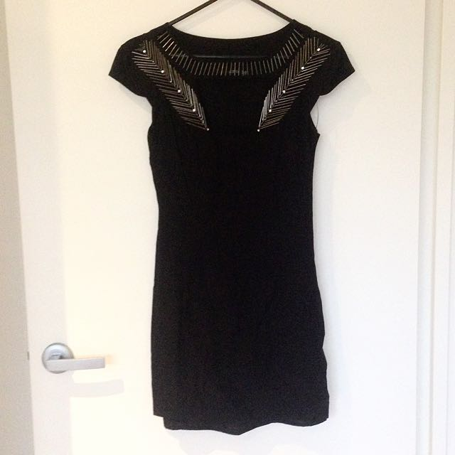 SEDUCE Black Bodycon Dress Size 8