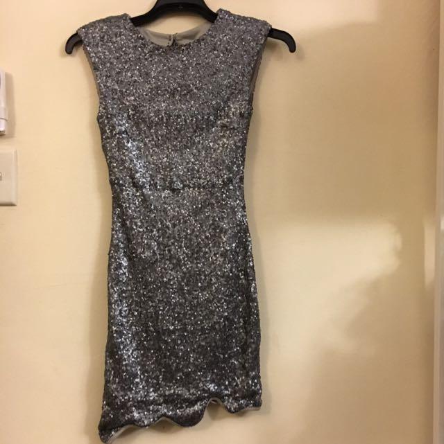 Silver Size 8 Dress