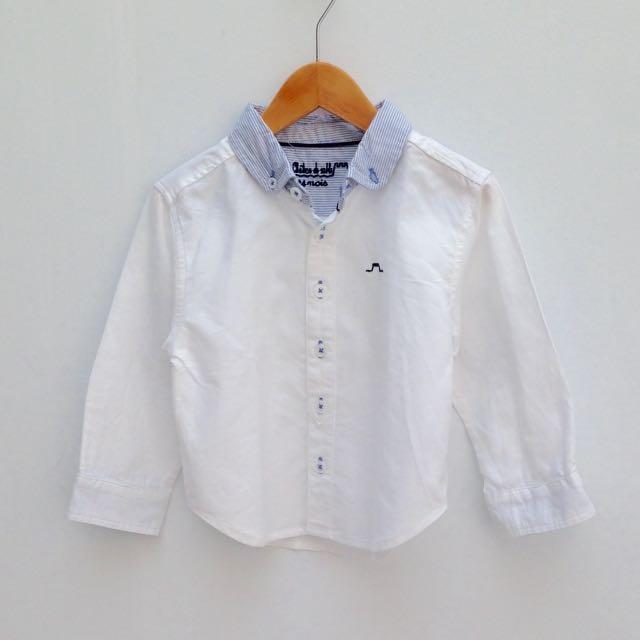 (Size 24M) Chateau de sable Boys Dress Shirt