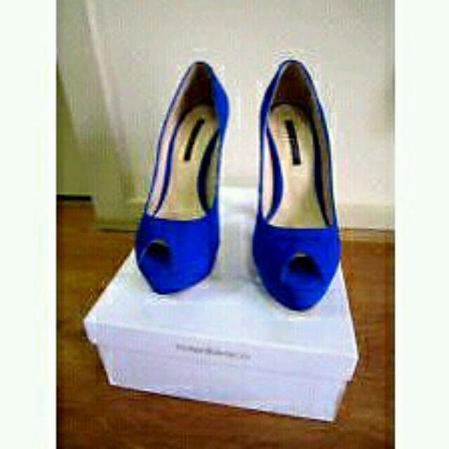 Tony Bianco Electric Blue Heels