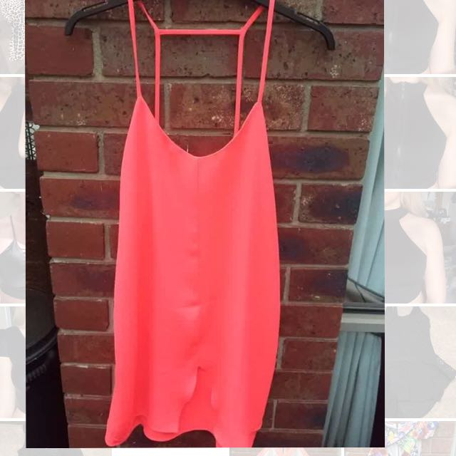 Valley girl NEW WITH TAG SZ8 Neon Pink/orange