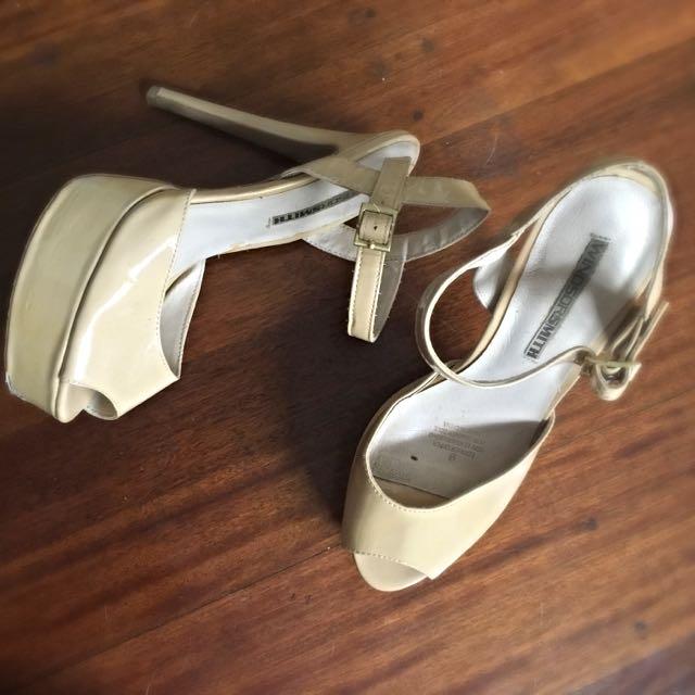 Windsorsmith Cream Heels