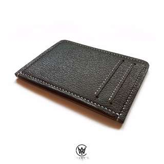 Handmade Genuine Full Grain Leather Minimalist Card Holder/Wallet | Handcrafted | Handstitched | D38