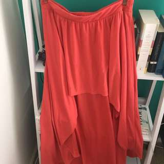 Coral High/low Skirt
