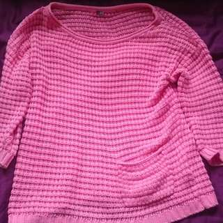 Pink Knit Top