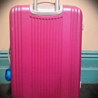 (Pending) Pink And Grey CalPak Hardside Spinner Suitcase